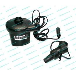 Электрический насос для надувных лодок АС-401 красный-черный (9993539)