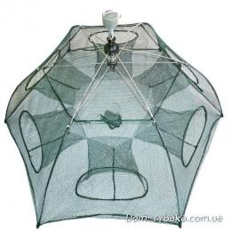Раколовка складная зонтик 65х65см 6 входов(9996243)