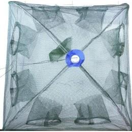 Раколовка складная паук  70х70 см TY028 8 входов (9997005)