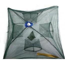 Раколовка складная паук  70х70 см TY021 4 входа (9996998)