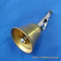 Колокольчик бронза с зажимом звонкий (9996839)