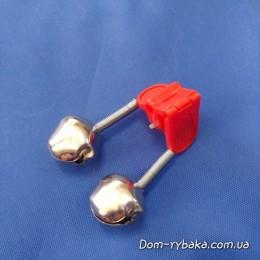 Бубенчик  сигнализатор поклевки двойной под светлячок(9990930)