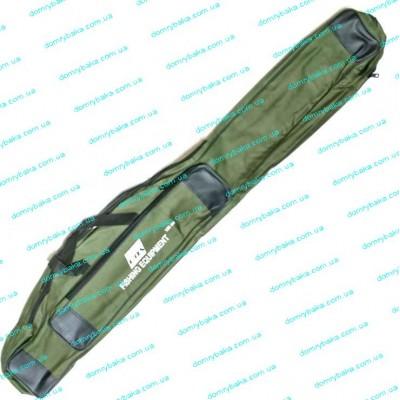 Чехол для удилищ EOS 130см под катушку зеленый 2 отдела (9995885)