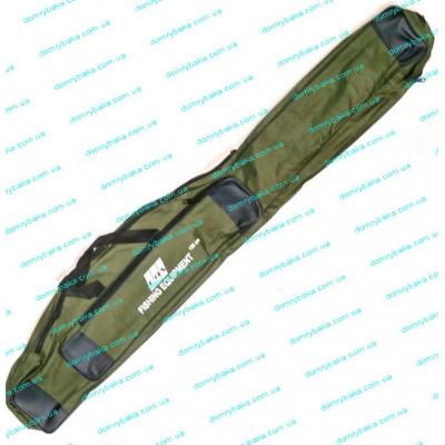 Чехол для удилищ EOS 150см под катушку зеленый 2 отдела (9995886)