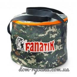 Ведро для приготовления прикормки Fanatik  с крышкой  (9998909)