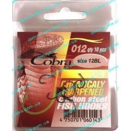 Крючок Cobra Funa 012  №12 BL с колечком 10шт(9991802)