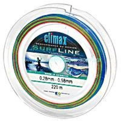 Леска коническая  Climax Surf line 0.28-0.58мм 220м(11836)
