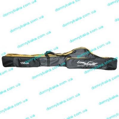 Чехол Line Winder под катушку черный  150см 2 отдела (15006)
