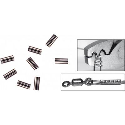 Обжимная трубочка Spro Black Brass Single  20шт 1.2мм(4556012)