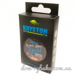 Шок-лидер KRYSTON Quicksilver Gold Coated Shock Leader/Hook link 20м (9998725)