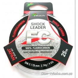 Флуорокарбон 100% Intech Shock Leader 0.178мм  25м 2.1кг( 9996273)