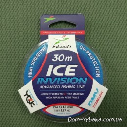 Леска Intech Ice Invision 0.12мм 1.27kг 30м(9996281)