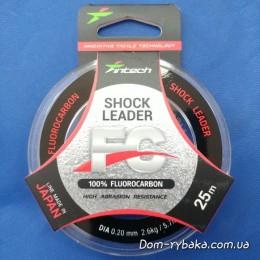 Флуорокарбон 100% Intech Shock Leader 0.20 мм  25 м 2.6 кг( 9997001)