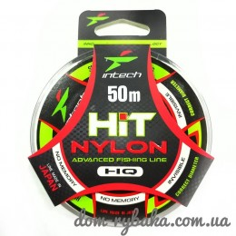 Леска  Intech  Hit Nylon 0.107 мм 0.89 кг 50 м (9998159)