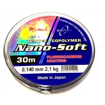 Леска Momoi Nano-Soft Winter Fluorocarbon Coating   0.140мм 2.1kг 30м прозрачная(9995076)