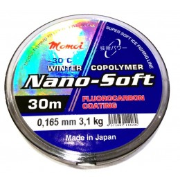 Леска Momoi Nano-Soft Winter Fluorocarbon Coating   0.165мм 3.1kг 30м прозрачная(9995077)
