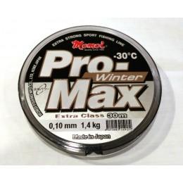 Леска Momoi Pro Max Winter Strong   0.10мм 1.4kг 30м прозрачная(9995073)