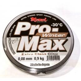 Леска Momoi Pro Max Winter Strong   0.08мм 0.9kг 30м прозрачная(9995072)