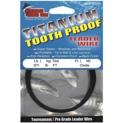 Поводковый материал AFW TITANIUM  AMBEROXIDE 20LB 9кг 3 м титановый(23580)