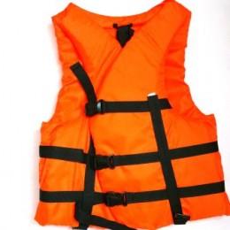 Жилет страховочный 100-120 кг оранжевый №9954(9996009)