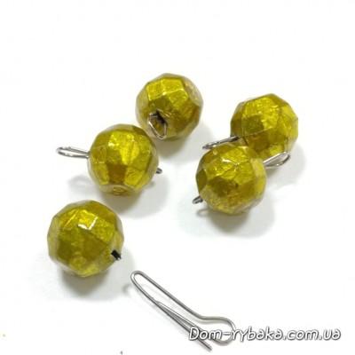 Груз джиговый свинцовый разборный граненый золотистый 10 гр 7 шт  (9997269) фото