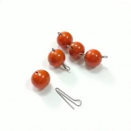 Груз джиговый свинцовый разборный оранжевый 14 гр 7 шт (9997265)
