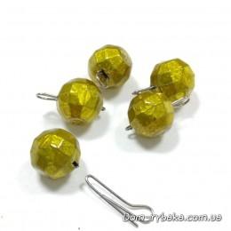 Груз джиговый свинцовый разборный граненый золотистый 8 гр 5 шт  (9997268)