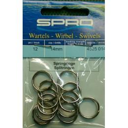 Кольцо заводное Spro Splitrings 14мм 12шт 25кг (4525014)