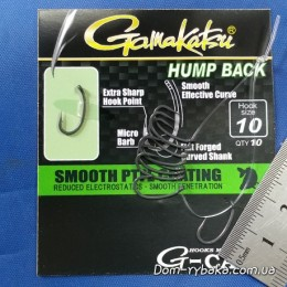 Крючок GAMAKATSU G-CARP HUMP BACK №10 10шт Teflon Coating (18503001000)