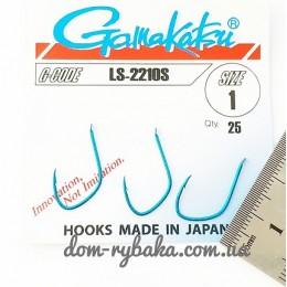 Крючок  Gamakatsu LS-2210S №1 25 шт синий лопатка (14656200100)