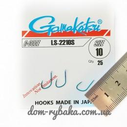 Крючок  Gamakatsu LS-2210S №10 25 шт синий лопатка (14656201000)