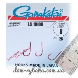 Крючок  Gamakatsu LS-1010R №8 25шт красный лопатка (14668300800)