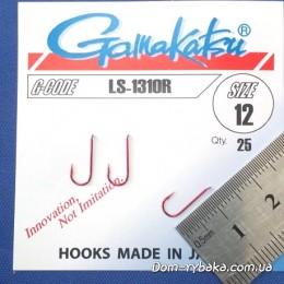 Крючок  Gamakatsu LS-1310R №12 25 шт красный лопатка (14653801200)