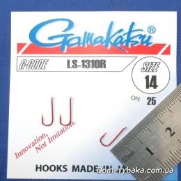Крючок  Gamakatsu LS-1310R №14 25 шт красный лопатка (14653801400)