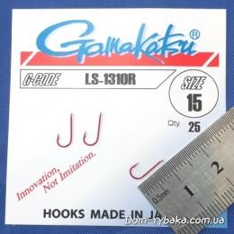 Крючок  Gamakatsu LS-1310R №15 25 шт красный лопатка (14653801500)