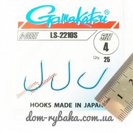 Крючок  Gamakatsu LS-2210S №4 25 шт синий лопатка (14656200400)