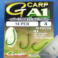 Крючок Gamakatsu A1 G-Carp Camou Green Super №4 10 шт (14908600400)
