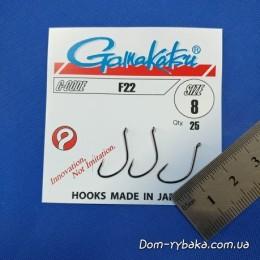 Крючок Gamakatsu F22 №8 25шт(6652008)
