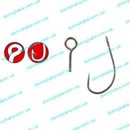 Крючок GAMAKATSU LS-3424F N/L №1/0 5шт большое колечко(185100 00100)