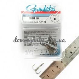 Крючок Gamakatsu тройной 13B №06 10штук(14666600600)