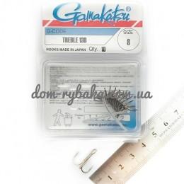 Крючок Gamakatsu тройной 13B №08 10штук(14666600800)