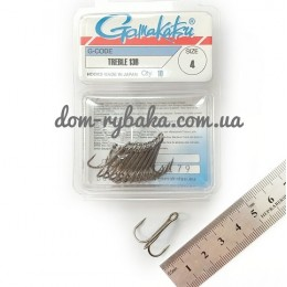 Крючок Gamakatsu тройной 13B №04 10штук(14666600400)