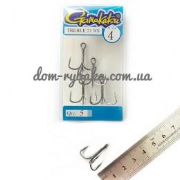 Крючок Gamakatsu тройной 21ns №04 5 штук (14739700400)