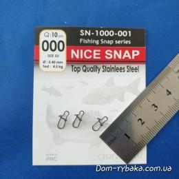 Застежка Gurza Nice Snap №000  4.5кг 10шт (9996594)
