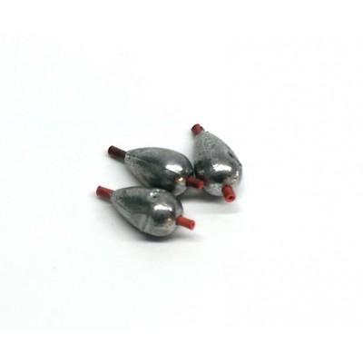 Груз капля скользящий с кембриком   1,5 гр 3шт (9994788)