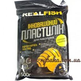 Пластилин Real fish Сладкая Кукуруза  0.5 кг  (9998055)