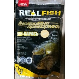 Прикормка Real fish Линь-карась Творог  1кг (9996152)