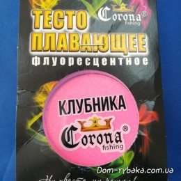 Тесто Corona Клубника плавающее флуоресцентное 20гр (9996681)