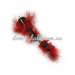 Приманка Судак Мандула 2 Hairy красная 10см(9993621)