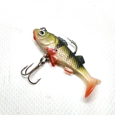 Виброхвост Jaxon Magic Fish 7грамм 55 мм цвет Е06H 1шт(9995403) фото